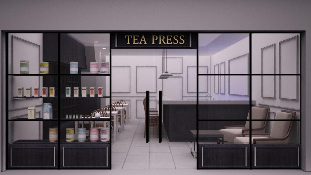 cafe tea press facade